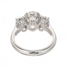 Peter Suchy Peter Suchy 2 01 Carat Oval Diamond Platinum Three Stone Engagement Ring - 528143