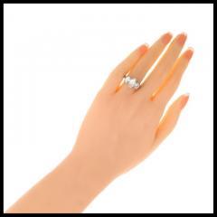 Peter Suchy Peter Suchy 2 01 Carat Oval Diamond Platinum Three Stone Engagement Ring - 528145