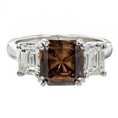 Peter Suchy Peter Suchy 2 14 Carat Dark Brown Diamond Platinum Engagement Ring - 407608