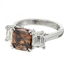 Peter Suchy Peter Suchy 2 14 Carat Dark Brown Diamond Platinum Engagement Ring - 407611