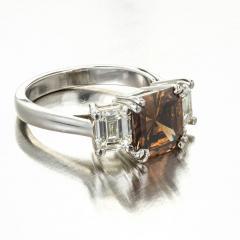 Peter Suchy Peter Suchy 2 14 Carat Dark Brown Diamond Platinum Engagement Ring - 407615