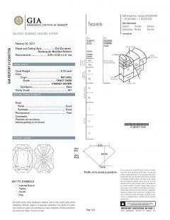 Peter Suchy Peter Suchy 2 14 Carat Dark Brown Diamond Platinum Engagement Ring - 410526