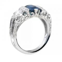 Peter Suchy Peter Suchy 2 30 Carat Natural Sapphire Diamond Platinum Engagement Ring - 391028