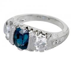 Peter Suchy Peter Suchy 2 30 Carat Natural Sapphire Diamond Platinum Engagement Ring - 391031