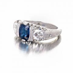 Peter Suchy Peter Suchy 2 30 Carat Natural Sapphire Diamond Platinum Engagement Ring - 391033