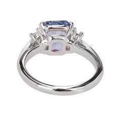 Peter Suchy Peter Suchy 2 56 Carat Sapphire Diamond Platinum Three Stone Engagement Ring - 394518