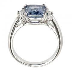Peter Suchy Peter Suchy 2 56 Carat Sapphire Diamond Platinum Three Stone Engagement Ring - 394522