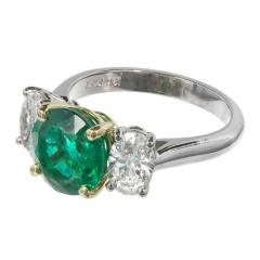 Peter Suchy Peter Suchy 3 07 Carat Emerald Diamond Platinum Gold Engagement Ring - 326467