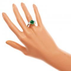 Peter Suchy Peter Suchy 3 07 Carat Emerald Diamond Platinum Gold Engagement Ring - 326469
