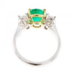 Peter Suchy Peter Suchy 3 07 Carat Emerald Diamond Platinum Gold Engagement Ring - 326471