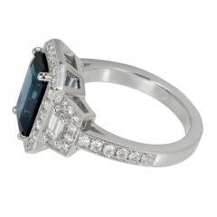 Peter Suchy Peter Suchy 3 88 Carat Sapphire Halo Diamond Platinum Engagement Ring - 408330