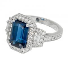 Peter Suchy Peter Suchy 3 88 Carat Sapphire Halo Diamond Platinum Engagement Ring - 408332