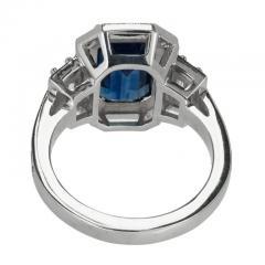Peter Suchy Peter Suchy 3 88 Carat Sapphire Halo Diamond Platinum Engagement Ring - 408334