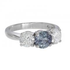 Peter Suchy Peter Suchy GIA Certified 1 05 Carat Sapphire Diamond Engagement Ring - 396209