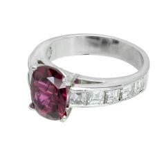 Peter Suchy Peter Suchy GIA Certified 2 68 Carat Cushion Ruby Diamond Platinum Engagement - 389620