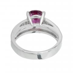 Peter Suchy Peter Suchy GIA Certified 2 68 Carat Cushion Ruby Diamond Platinum Engagement - 389621
