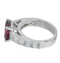 Peter Suchy Peter Suchy GIA Certified 2 68 Carat Cushion Ruby Diamond Platinum Engagement - 389623