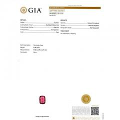 Peter Suchy Peter Suchy GIA Certified 2 68 Carat Cushion Ruby Diamond Platinum Engagement - 389624
