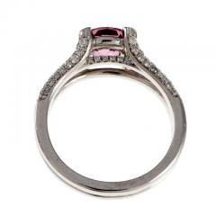 Peter Suchy Peter Suchy GIA Certified Padparadscha Sapphire Diamond Platinum Engagement Ring - 308544