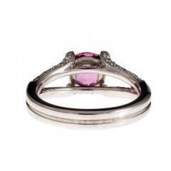 Peter Suchy Peter Suchy GIA Certified Padparadscha Sapphire Diamond Platinum Engagement Ring - 308545