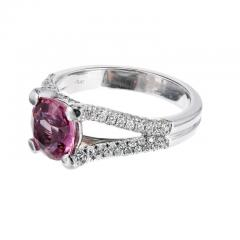 Peter Suchy Peter Suchy GIA Certified Padparadscha Sapphire Diamond Platinum Engagement Ring - 308548