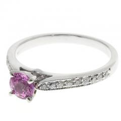 Peter Suchy Peter Suchy GIA Certified Pink Sapphire Diamond Platinum Engagement Ring - 396697