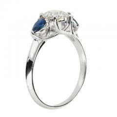 Peter Suchy Peter Suchy GIA Certified Round Diamond Pear Sapphire Platinum Engagement Ring - 407626