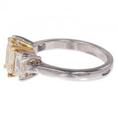 Peter Suchy Peter Suchy Yellow White Diamond Gold Platinum Three Stone Engagement Ring - 300940