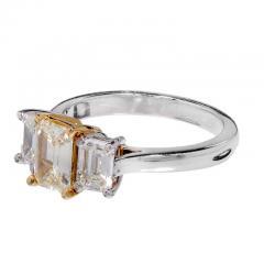 Peter Suchy Peter Suchy Yellow White Diamond Gold Platinum Three Stone Engagement Ring - 300945