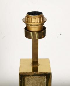 Peter Van Heeck 1970s bronze lamp with ammonite by Peter Van Heeck - 729977