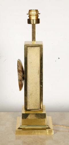 Peter Van Heeck 1970s bronze lamp with ammonite by Peter Van Heeck - 729979