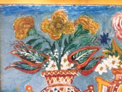 Peterson Laurent Still Life Three Vases with Flowers Haitian Folk Art - 1105644
