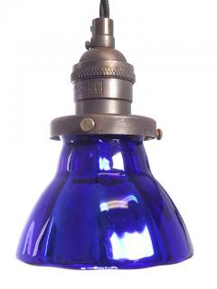 Petite Cobalt Blue Mercury Glass Pendent - 531985