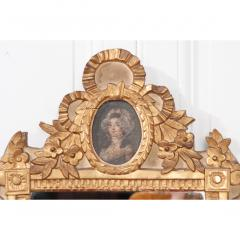 Petite Italian 19th Century Gold Gilt and Painted Mirror - 1936934