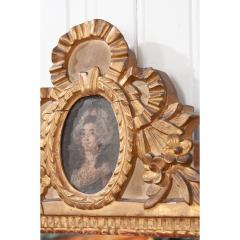 Petite Italian 19th Century Gold Gilt and Painted Mirror - 1936936