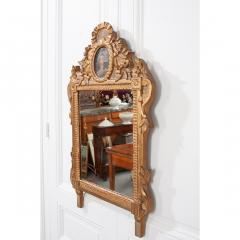 Petite Italian 19th Century Gold Gilt and Painted Mirror - 1936938