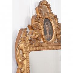 Petite Italian 19th Century Gold Gilt and Painted Mirror - 1936941