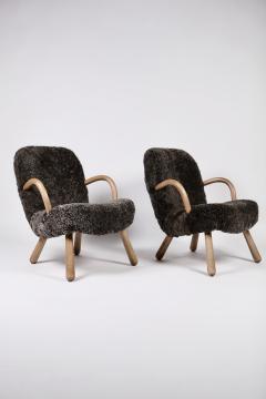 Philip Arctander Philip Arctander Attributed Clam Chairs Sweden 1950s  - 1613872