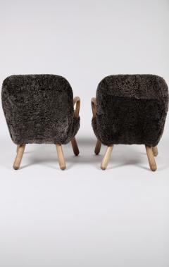 Philip Arctander Philip Arctander Attributed Clam Chairs Sweden 1950s  - 1613873