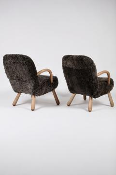 Philip Arctander Philip Arctander Attributed Clam Chairs Sweden 1950s  - 1613874
