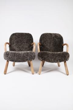 Philip Arctander Philip Arctander Attributed Clam Chairs Sweden 1950s  - 1613875