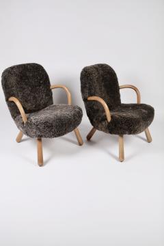 Philip Arctander Philip Arctander Attributed Clam Chairs Sweden 1950s  - 1613876