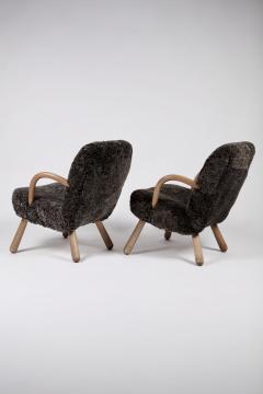Philip Arctander Philip Arctander Attributed Clam Chairs Sweden 1950s  - 1613878