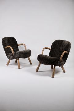 Philip Arctander Philip Arctander Attributed Clam Chairs Sweden 1950s  - 1613880