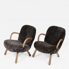 Philip Arctander Philip Arctander Attributed Clam Chairs Sweden 1950s  - 1618007