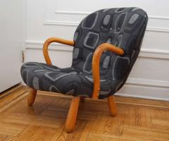 Philip Arctander The Clam Chair Rocking Chair by Philip Arctander formerly Martin Olsen  - 1022209