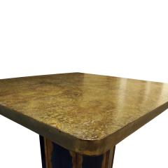 Philip Kelvin LaVerne Philip Kelvin LaVerne Square Etruscan Round Game Table 1970s - 692178