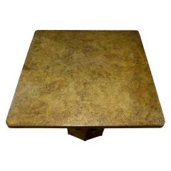 Philip Kelvin LaVerne Philip Kelvin LaVerne Square Etruscan Round Game Table 1970s - 692181
