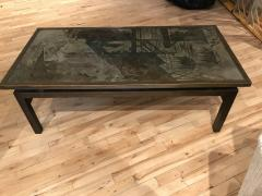 Philip and Kelvin LaVerne Beautiful Acid Etched and Patinated Bronze Chan coffee table - 955314