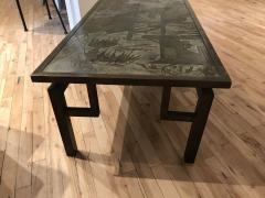 Philip and Kelvin LaVerne Beautiful Acid Etched and Patinated Bronze Chan coffee table - 955317